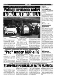 Pao  tender MUP-a RS